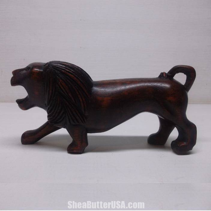 African hand carved lion shea butter usa