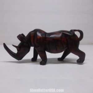 African Hand Carved Rhinoceros