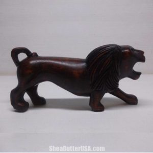 African Hand Carved Lion