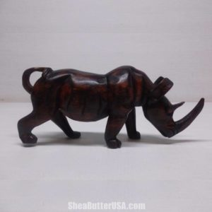 African wood carved exotic animals
