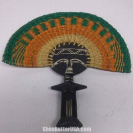 African Bolga Fans Carved Wood Handle Large